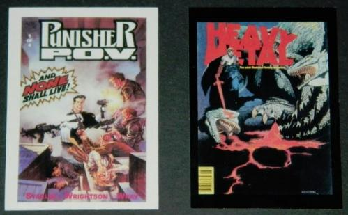 Punisher and Siegfried cardsMarvel and Heavy Metal