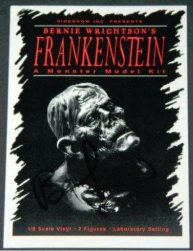 Frankenstein model postcard