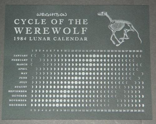 Cycle of the Werewolf Lunar CalendarNakatomi kickstart