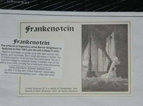Frankenstein t-shirtcard