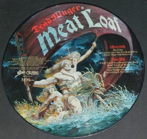 """Meat Loaf Dead RingerUK 12"""" picture discBack"""