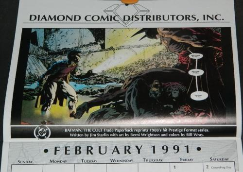 1991 Diamon CalendarThe Cult