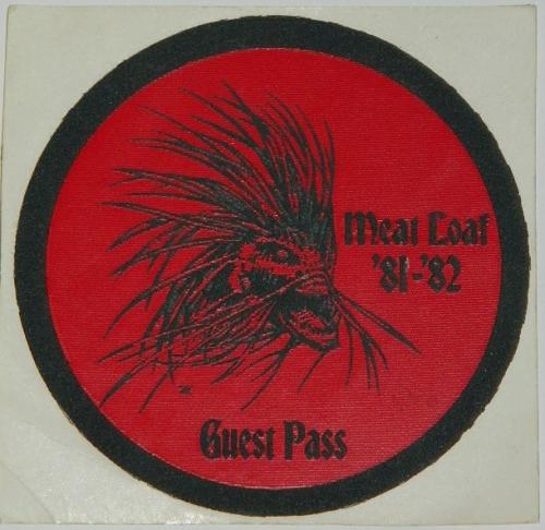 Meat Loaf Backstage pass sticker (textured)