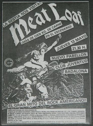 MeatloafConcert Flyer - Spain