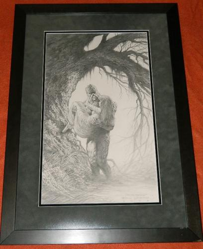 Over The Threshold - Swamp Thing Pencil Art