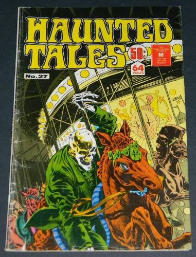 "Haunted Tales #27Australia - 6/77cover, ""He Who Laughs Last"""