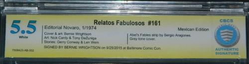Relatos Fabulosos #161Signature info