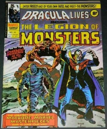 Dracula Lives #60UK - Dec 1975Buckler and Wrightson cover