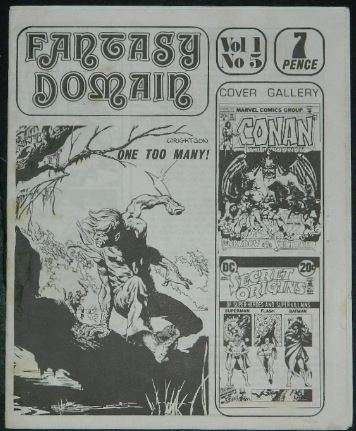 "Fantasy Domain Vol1 No5UK - 1973cover, ""One Too Many!"""