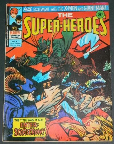 Marvel The Super-Heroes #41UK 12/75 - Gil Kane inked by Bernie - meant for Dead of Night #11.