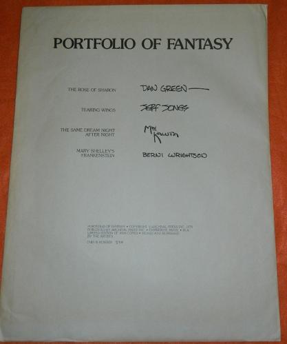 Portfolio of Fantasy#334/10001 Wrightson plate