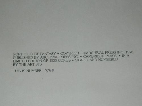 Portfolio of Fantasy#334/1000