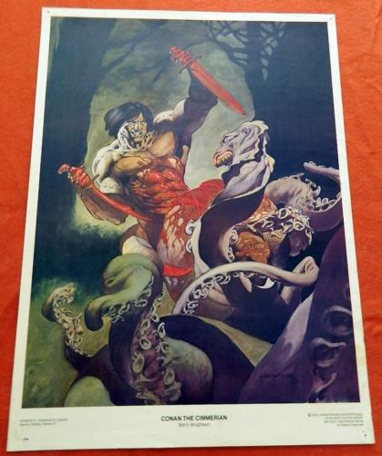 Conan the CimmerianPoster - Heroic Fantasy Series #1Christopher Enterprises 1976