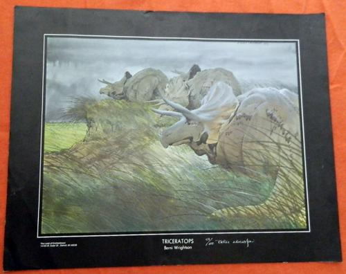 Triceratops PrintLand of EnchantmentSigned #59/100