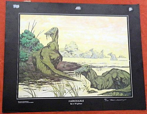 Hadrosaurus PrintLand of EnchantmentSigned #59/100