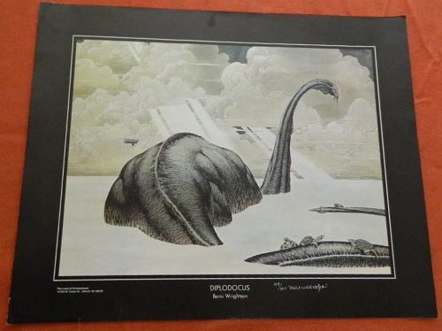 Diplodocus PrintLand of EnchantmentSigned #59/100