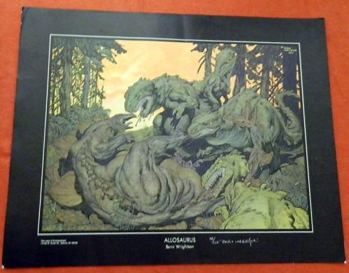 Allosaurus PrintLand of EnchantmentSigned #59/100