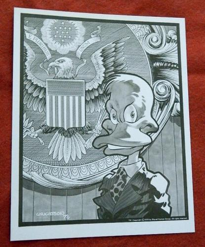Howard the Duck1976 sepia tone print