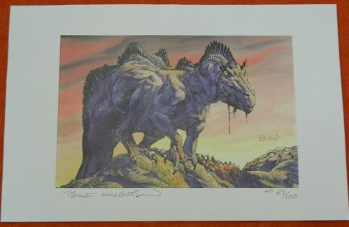 Convention printAllosaurus FragilisSigned print #57/100