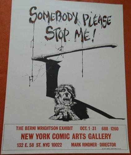 NY Comic Art Gallery1977 Poster