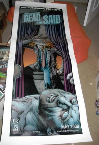 "Dead She Said poster2008 IDW SDCC24""x61"""