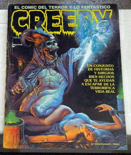 "Creepy #33Spain - Apr. 1982cover, ""Freak Show Pt.3"""