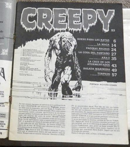 Creepy #53Intro page