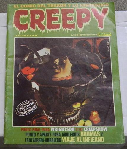 "Creepy #55Spain - Jan. 1984Creepshow ""Lonely World of Jordy Verril"""