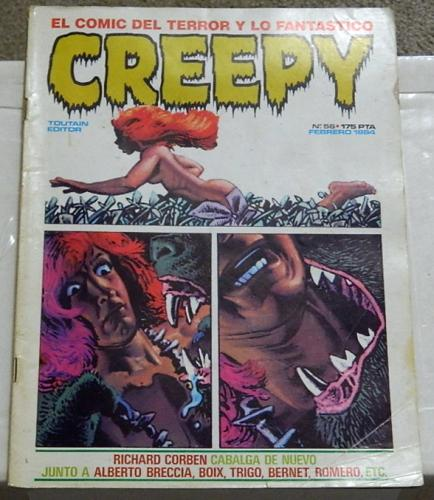 Creepy #56Spain - Feb. 1984prints Creepy #70 and title page
