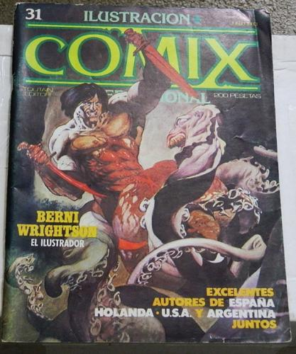 Illustracion Comix #1Spain - Jun. 1983cover, 4 pg. article