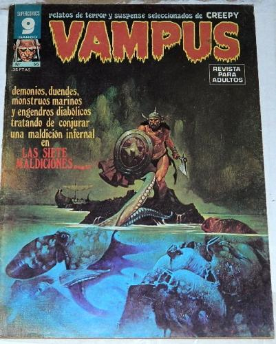 Vampus #55Spain - Mar. 1976prints Creepy #67, frontis piece and centerfold