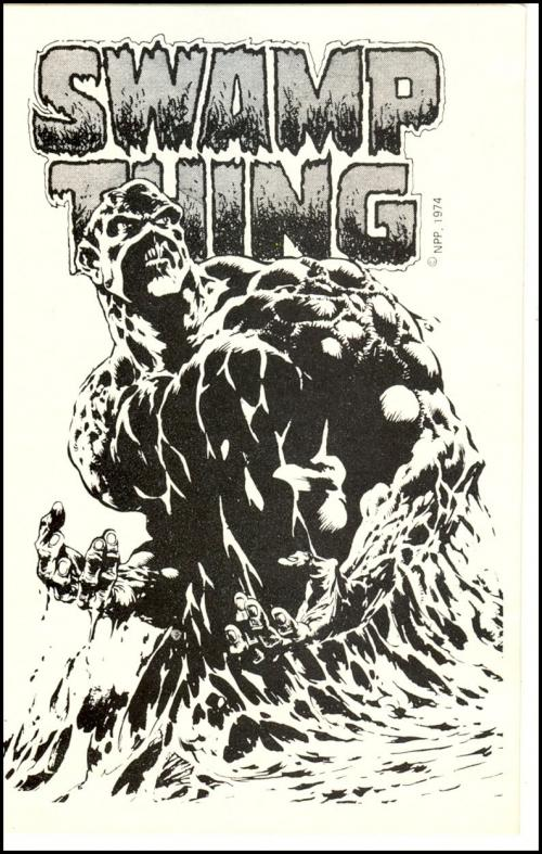 12) Swamp Thing DC Promo sticker 1974